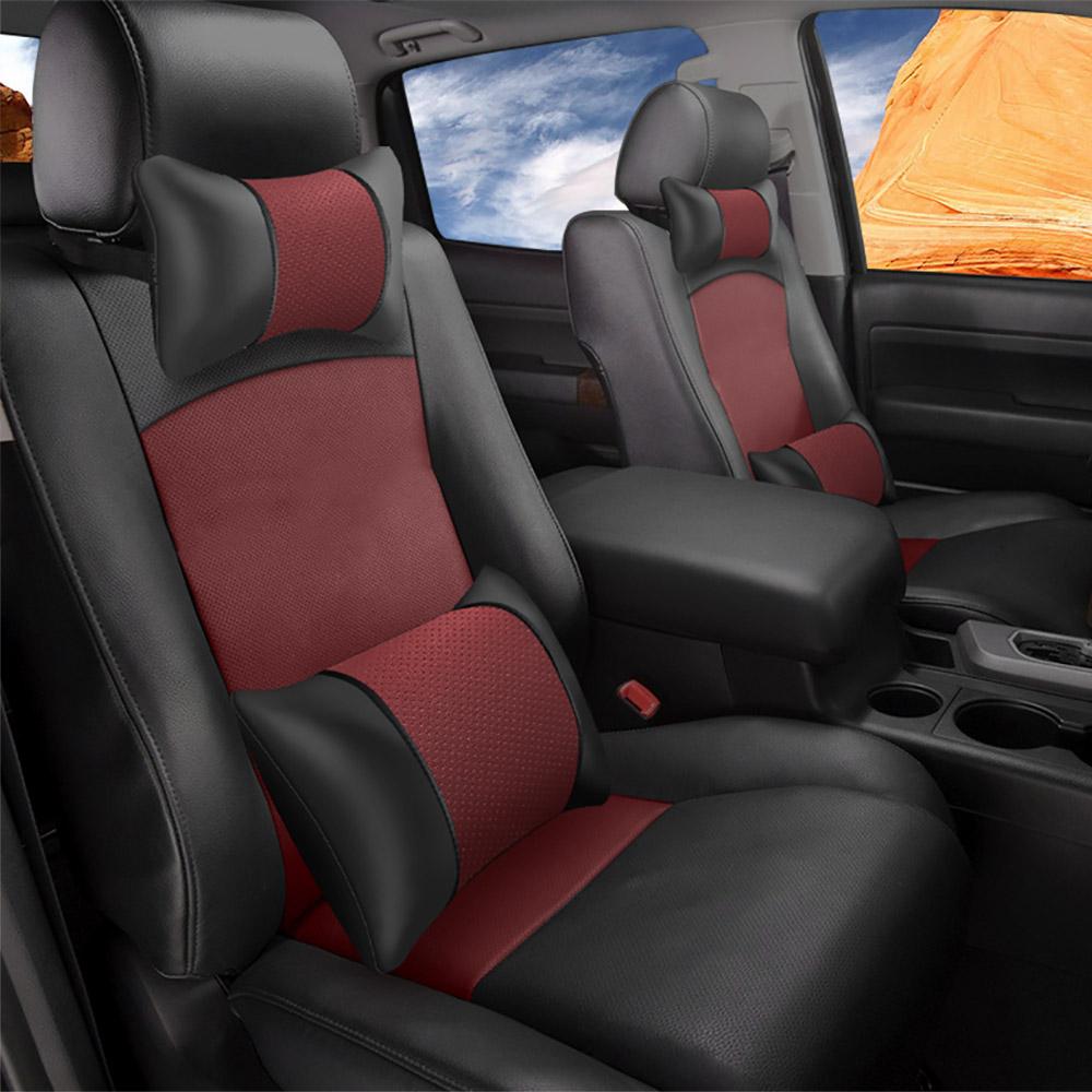 Pet Seat Belt >> Custom for Toyota 2007-2018 Tundra 5 Seat Car Seat Cover PU Leather Burgundy   eBay