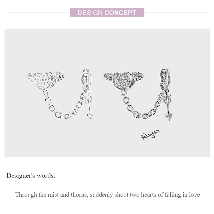 Cupid Snake Chain Charm Bracelet