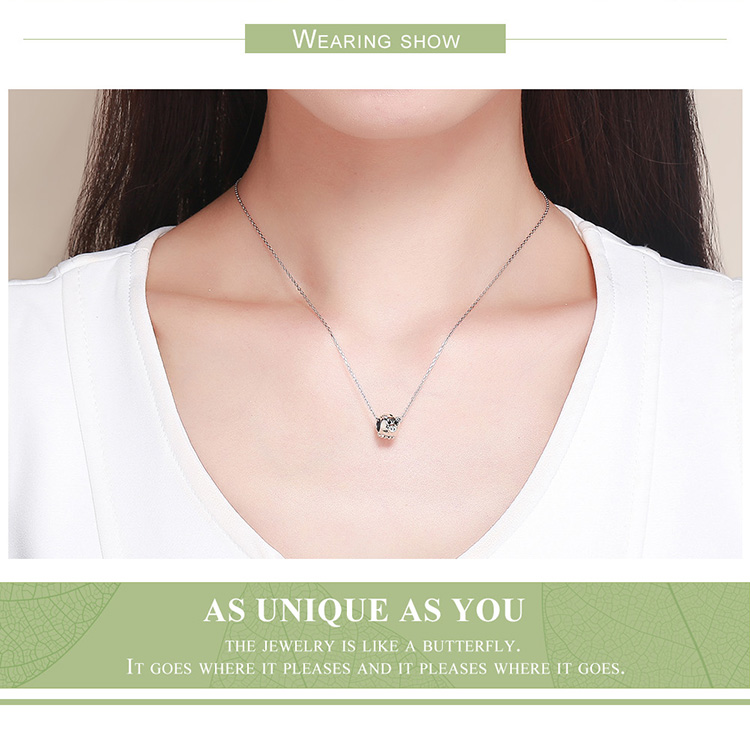 Voroco New 925 Sterling Silver Key Bead Pendant Charm CZ For Bracelet Necklace