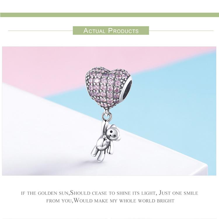 Voroco 925 Sterling Silver Dreamchase Pendant Charm CZ  for Necklace Bracelet