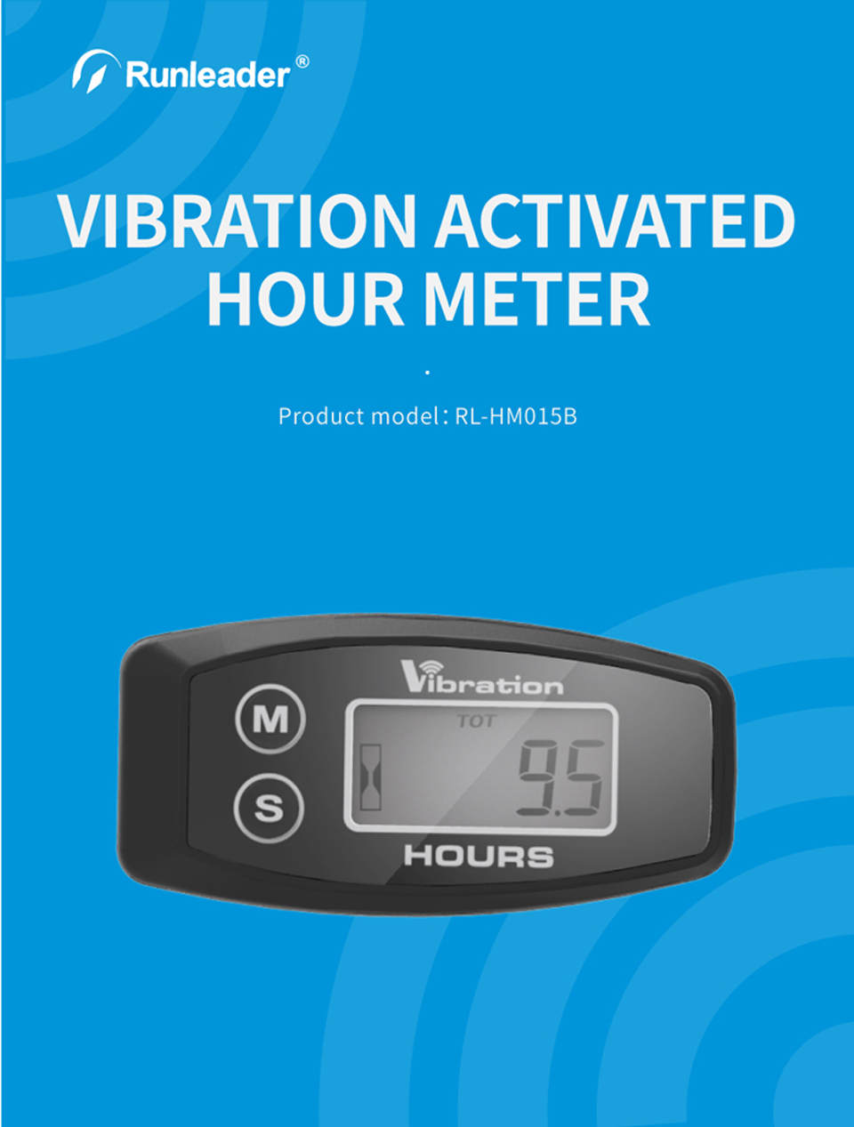 Vibration Activated Wireless Maintenance Hour Meter