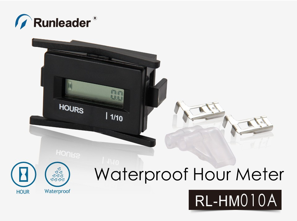 RL-HM010A Waterproof digital DC 4.5-60V Hour Meter for tractor Marine ATV Motor