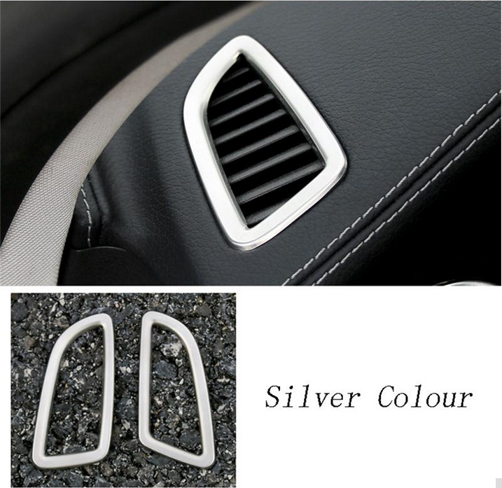 Silver Chrome Outlet Air Conditioner Steel Trim For Mercedes