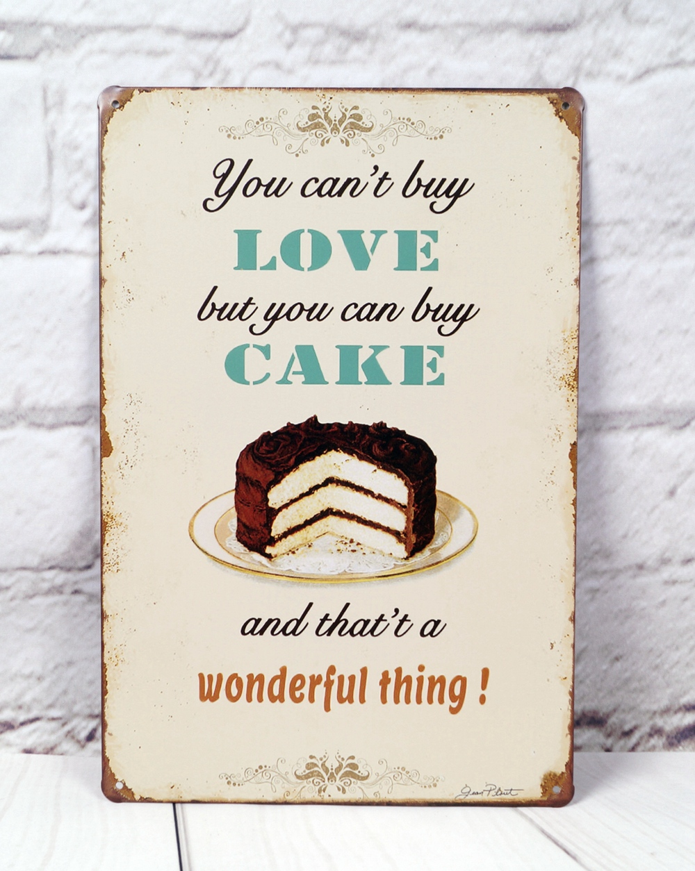 Metal Hanging Tin Sign By Cake Advertising Poster Bakery ...
