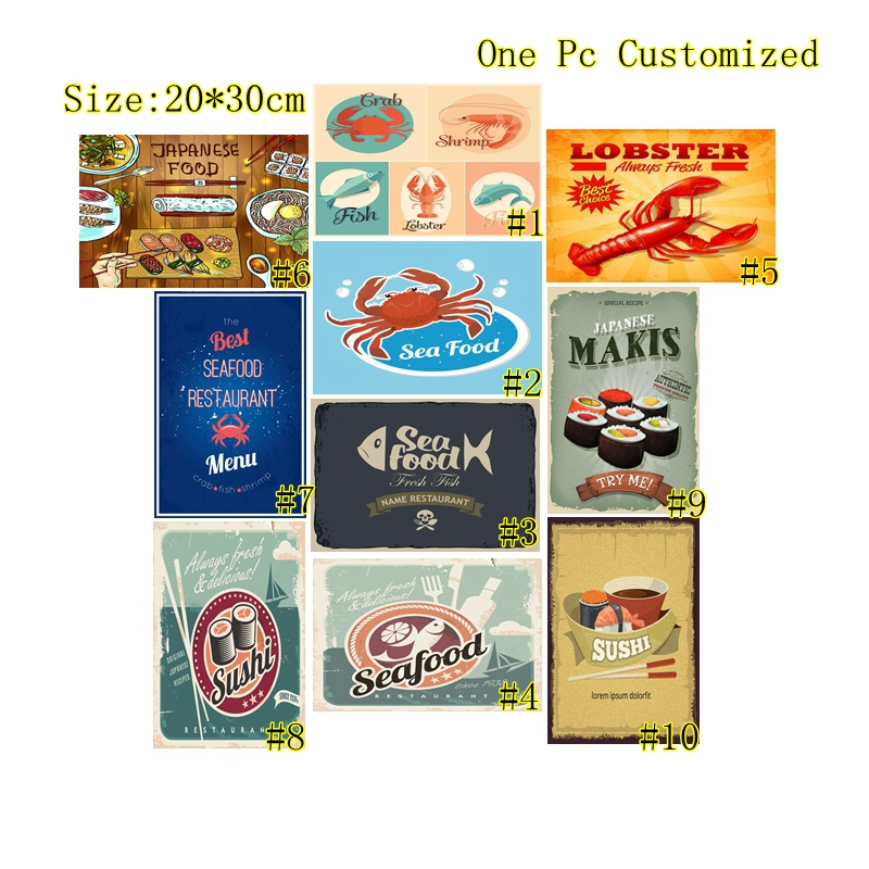 LOBSTER BAR  METAL TIN SIGN POSTER WALL PLAQUE