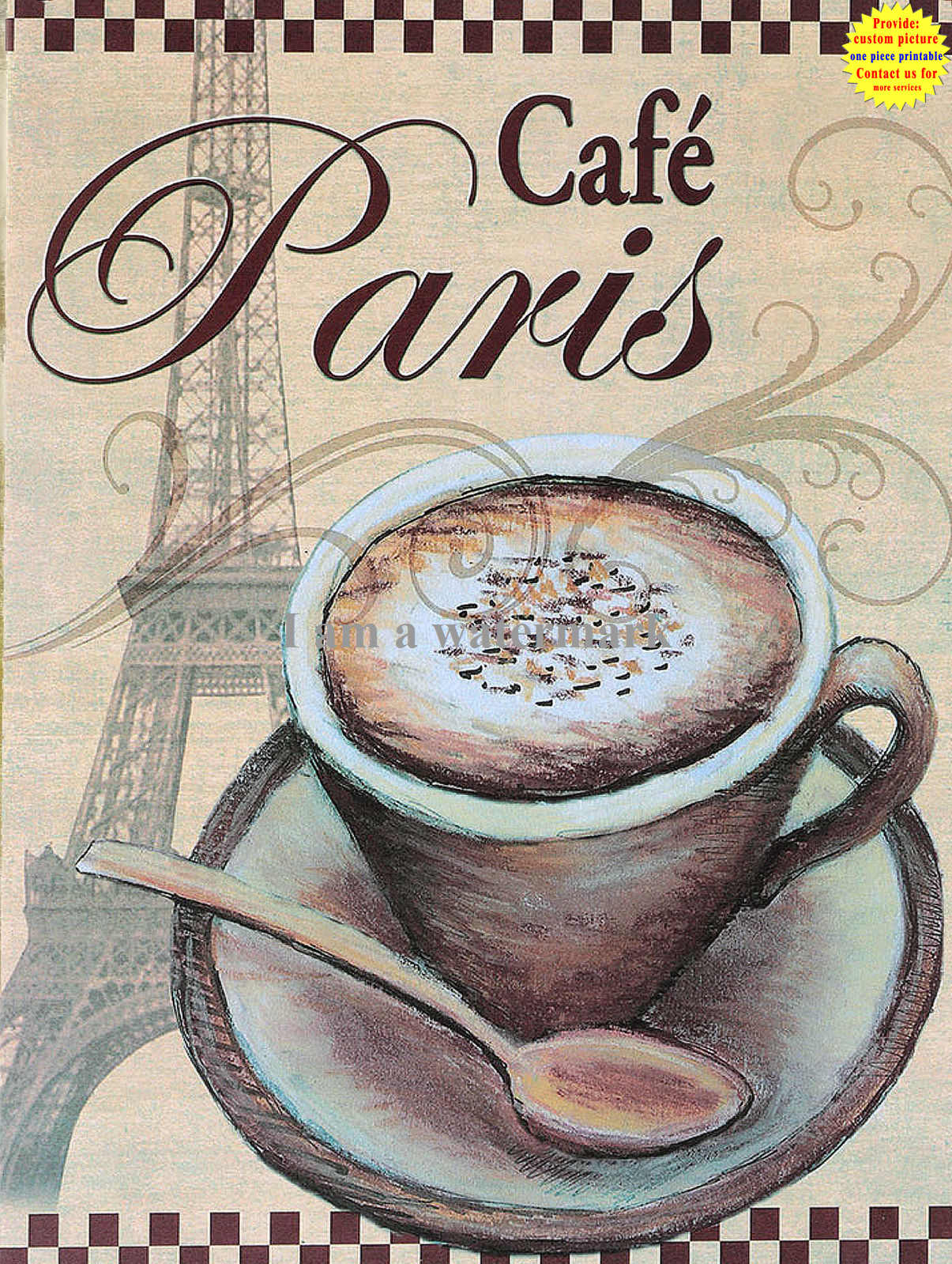 Espresso Retro Metal Tin Signs Plate Tea Poster Cafe Shop Art Wall Decor
