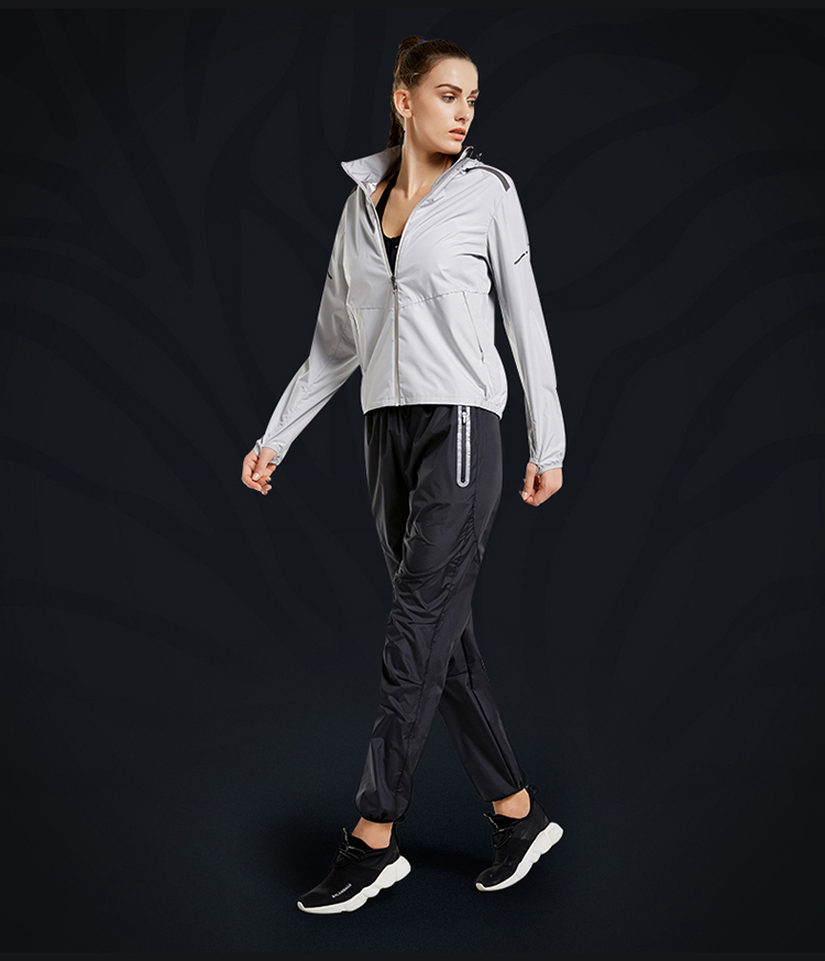 Women/'s Sweat Suits Hood Long Sleeve Fitness Running Sports Clothes Sauna Suits