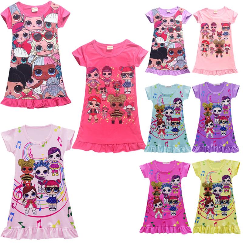 cbaa85105b0b L.O.L Lol Surprise Doll Girls Kids Dress Pajamas Dress Summer Casual ...
