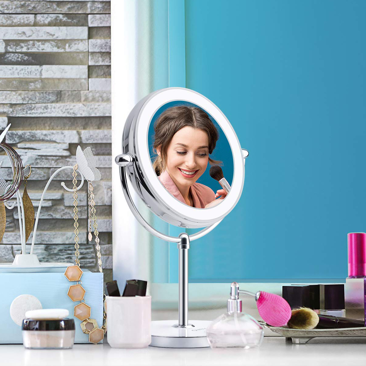 Professional Lighted Makeup Mirror 3x