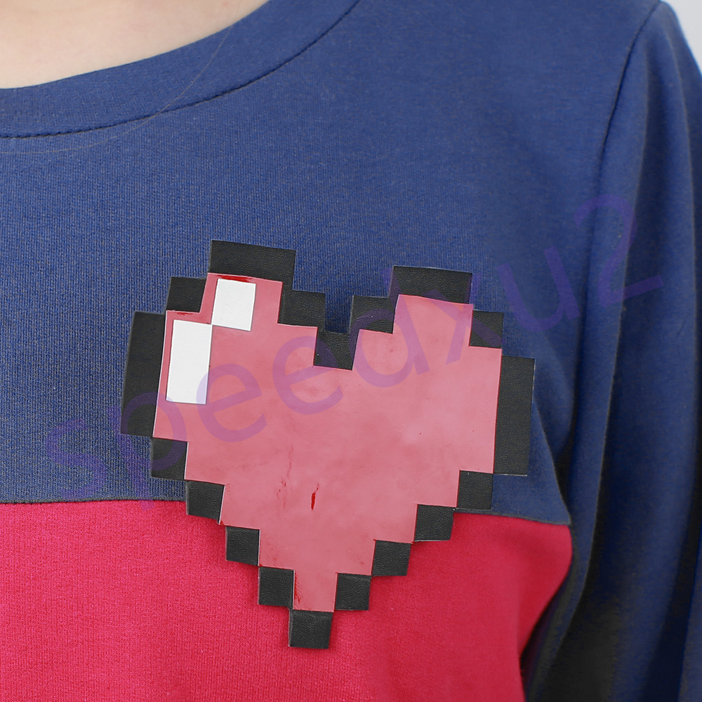 heart included Blue Hoodie Shirt Frisk Cosplay Costume Undertale Protagonist