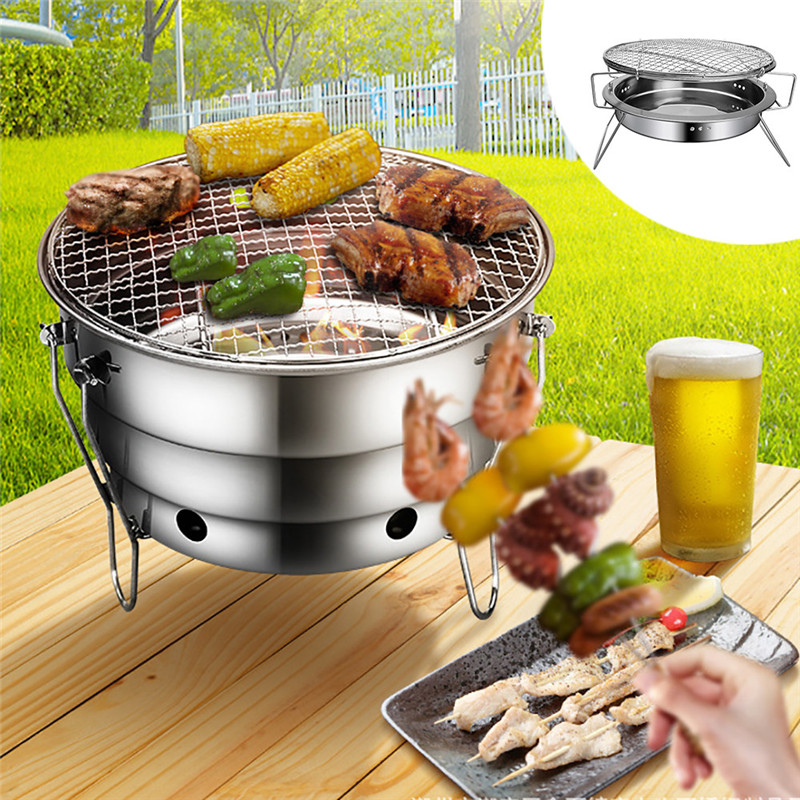 You May Also Like. BBQ Barbecue Folding Portable Grill Charcoal Outdoor  Camping Burner Patio Stove