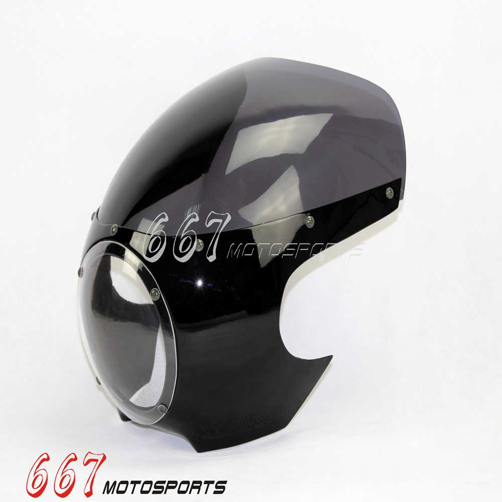 5 3 4 cafe racer drag racing verkleidung windshield. Black Bedroom Furniture Sets. Home Design Ideas