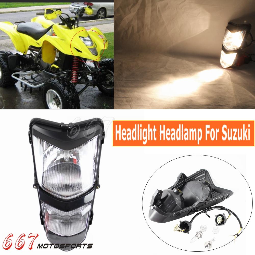 ATV Quad Headlight Lamp Assembly For Suzuki QUADSPORT LT-Z400 LT-Z400Z 2003-2008