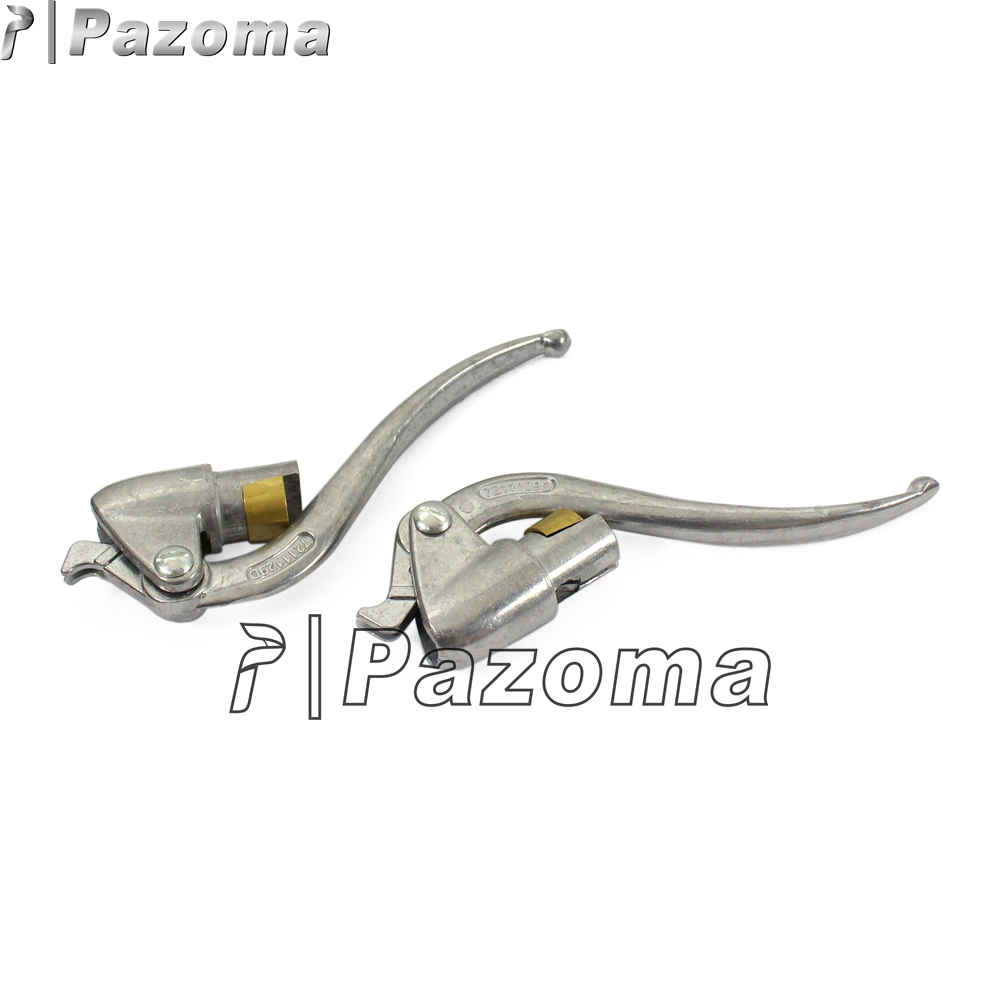 pair aluminum brake clutch lever silver hand levers for