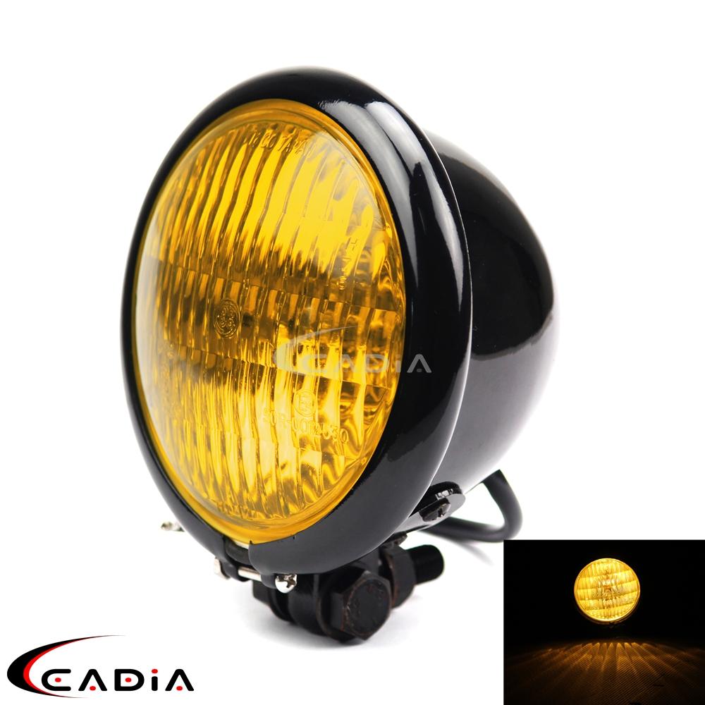 NEW Bates Style Front Light 4.5 inch Headlight for Harley Bobber Chopper Sporter