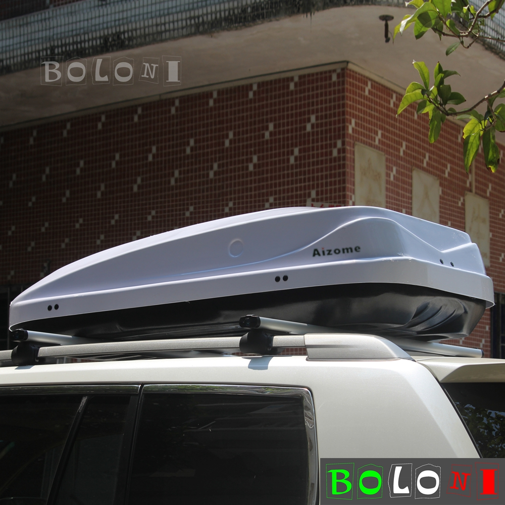 White 75kg Load Weight 380l Car Roof Rack Luggage Storage