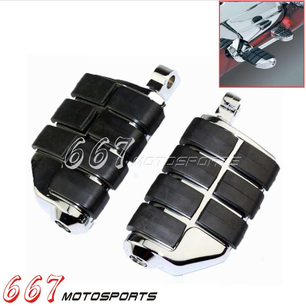 Motorcycle Chrome Bullet Foot Pegs Foot Rests For Harley Curiser Chopper Custom