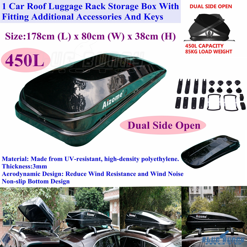 450l 85kg Dual Sides Opening Car Roof Pod Luggage Rack