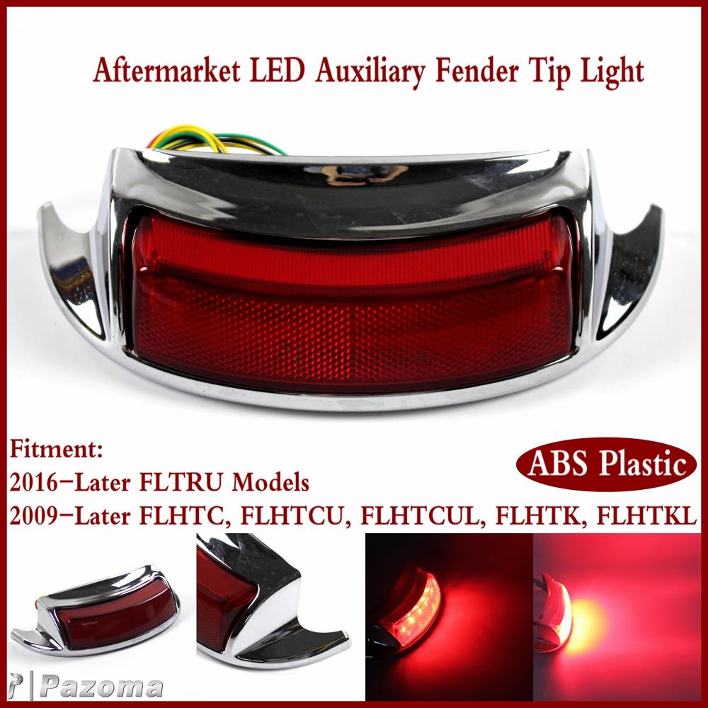 Electra Glo Keystone Auxiliary LED Lamps for harley FLHTCU rear fender lighting