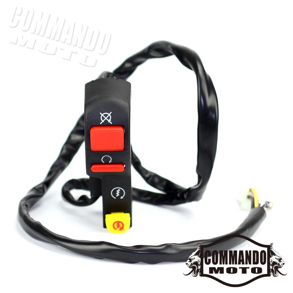 "Start Button Fit HONDA XR//CRF 50 XR50 CRF50 110 125 7//8/"" Handle Bar Kill Switch"