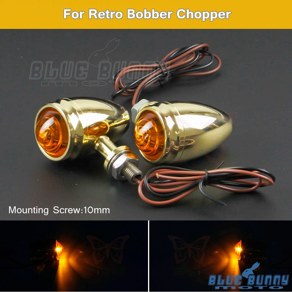 Bullet LED Turn Signal Lights For Harley Yamaha Honda Suzuki Kawasaki 10mm 12V