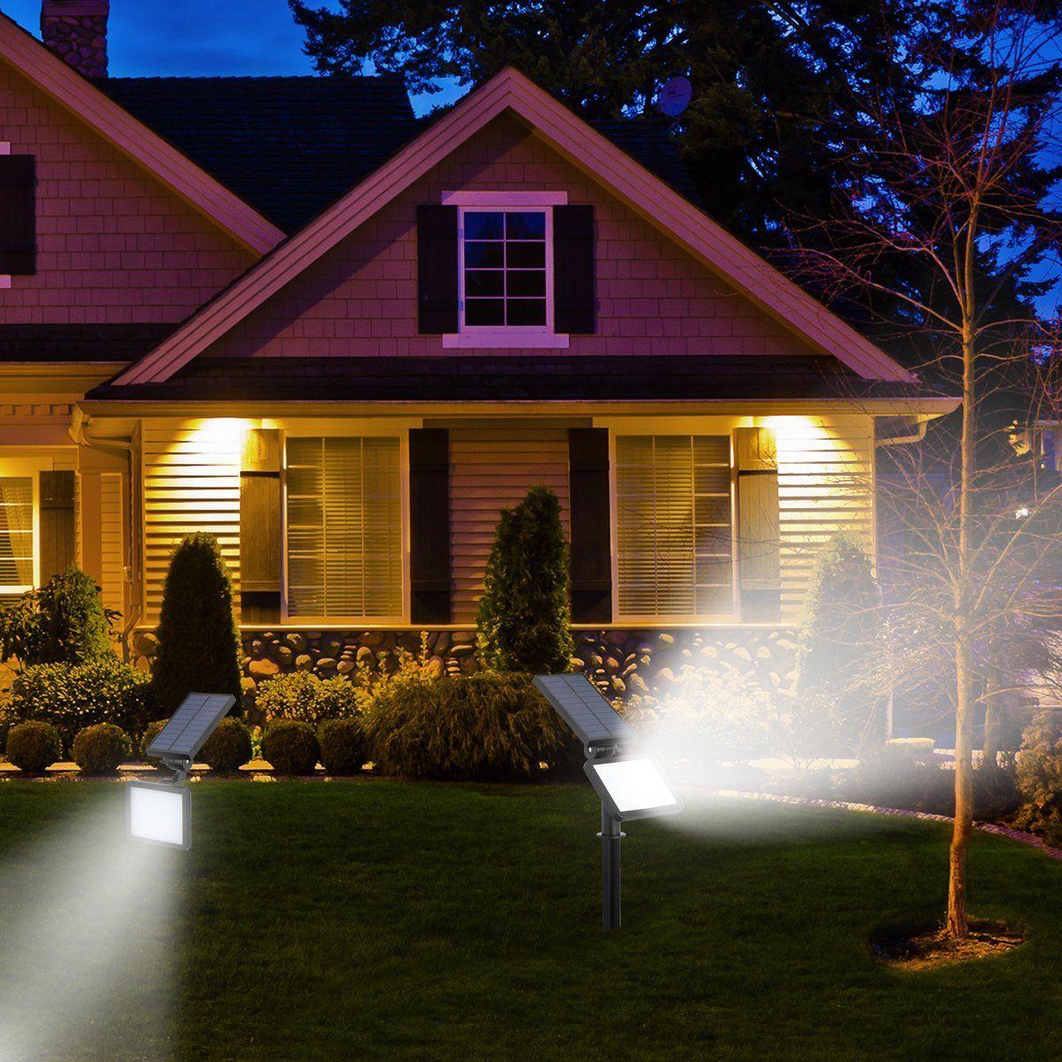48 Led Garden Landscape Lamp Solar Spotlight Outdoor Lighting Wall Lights