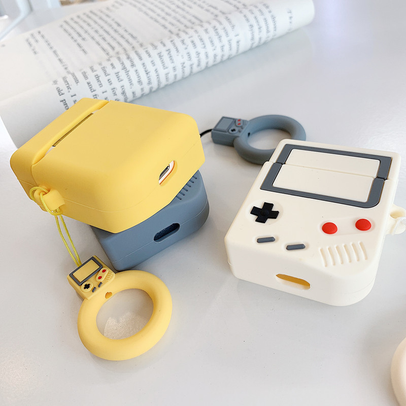 3D Cute Silicone Gameboy Case For Apple Airpods Earbuds