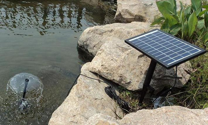 Solar Water Panel Power Fountain Pump Kit Pool Garden Pond