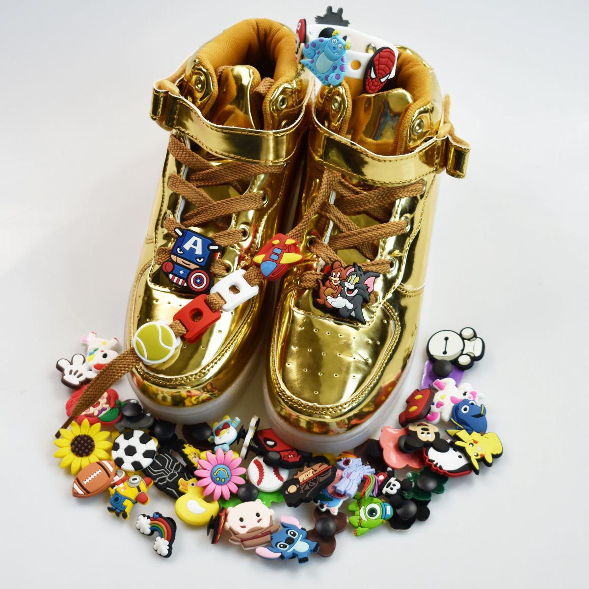 US Lot 50Pcs Different Shoes Charms Decorations Fit Croc Shoes Jibbitz Bands