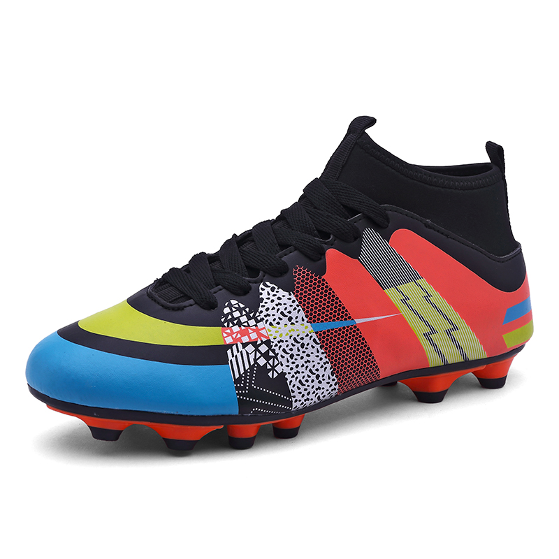 2a4c437d9 Outdoor Soccer Cleats Ankle AG Football Boots Shoes Colorful Trainers  Sneaker