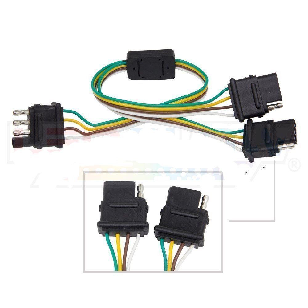 4 Way Trailer Plug Wiring Harness Y Adapter Converter Splitter For Toyota Tacom