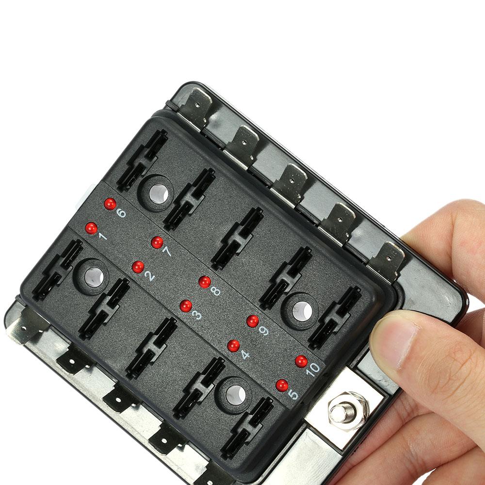 10er Sicherung Halter Sicherungsblock LED Anzeigen Warnung ...