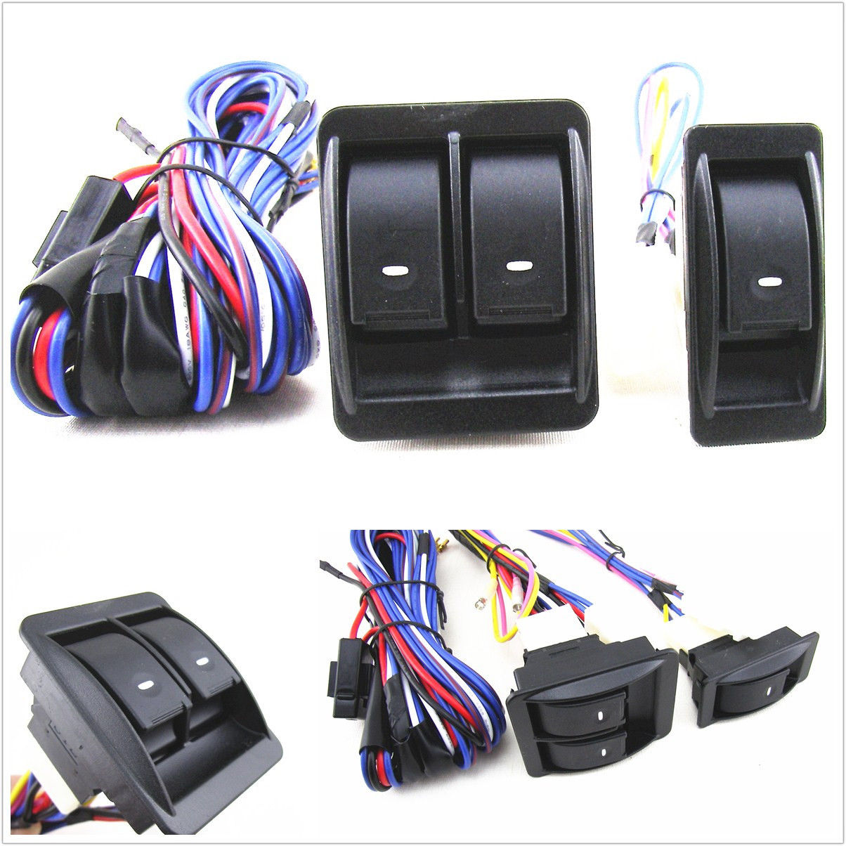For Nissan Pathfinder X-Trail 12V Power Window Switch Kit With Wire ...
