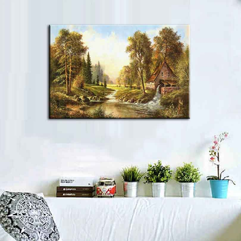 Mediterranean Forest Canvas Print Landscape Trees Wall Art Home ...