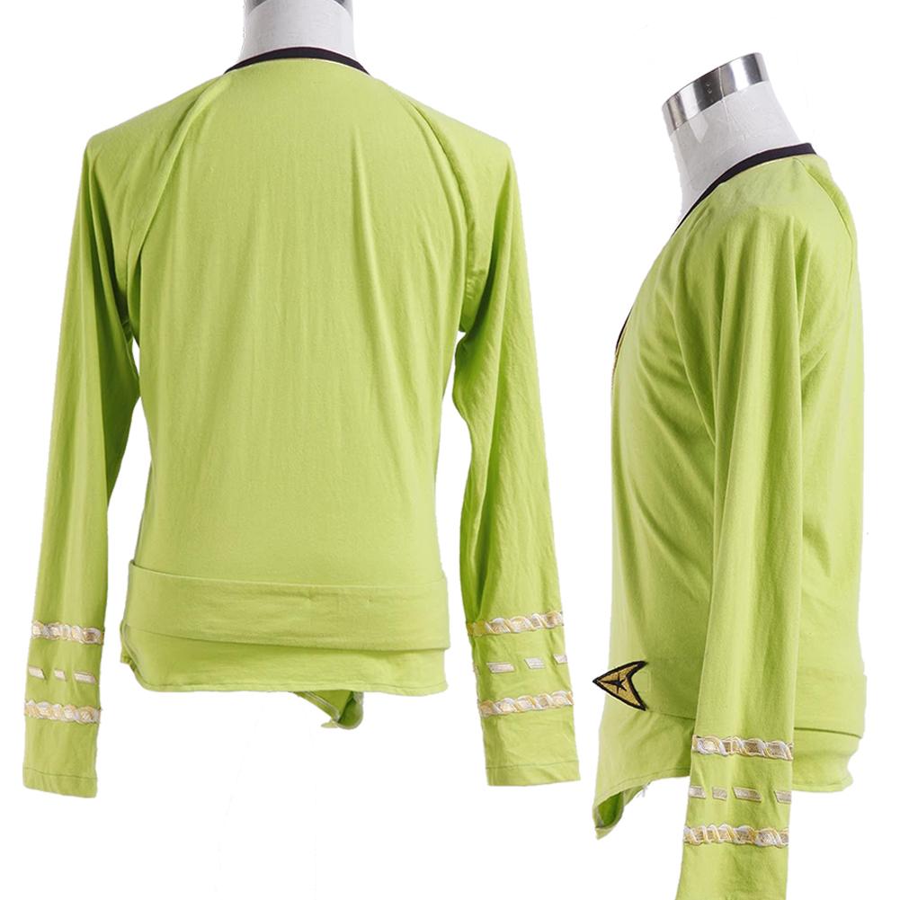 Star Trek TOS Green Wrap Command Costume Uniform Cosplay Halloween