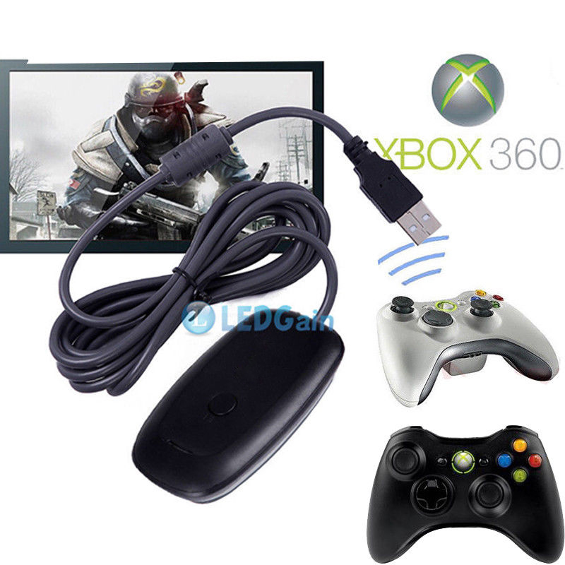 XBOX 360 Wireless Gaming Receiver Adapter for PC STEAM Wireless ...