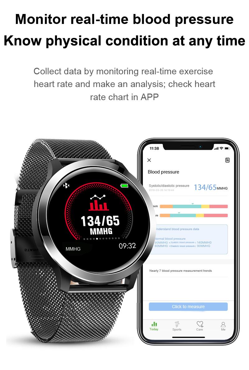 Bluetooth Sport Smartwatch Wasserdicht EKG Blutdruck..
