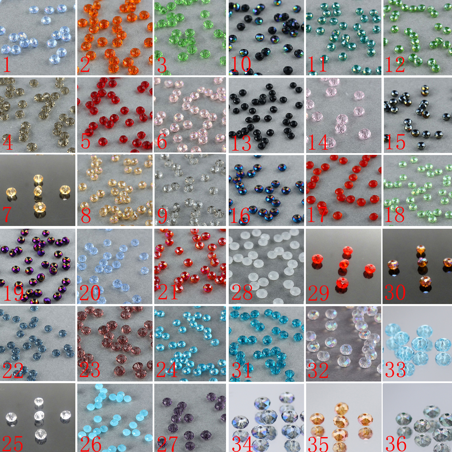 Free shipping 100pcs 4mm Rondelle Faceted Swaro/vsk Crystal Finding Spacer Beads