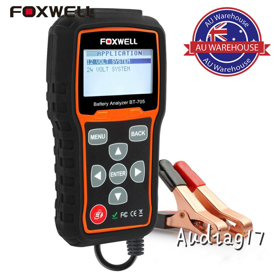 foxwell bt705 12v 24v auto car battery tester analyser. Black Bedroom Furniture Sets. Home Design Ideas
