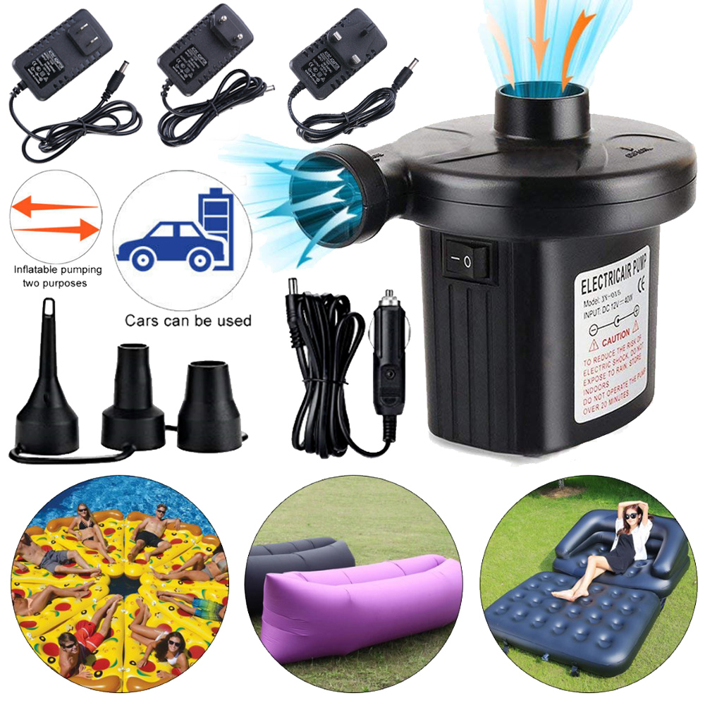 Electric Air Pump Inflator for Inflatables Camping Bed pool 240V//12V  EU Plug