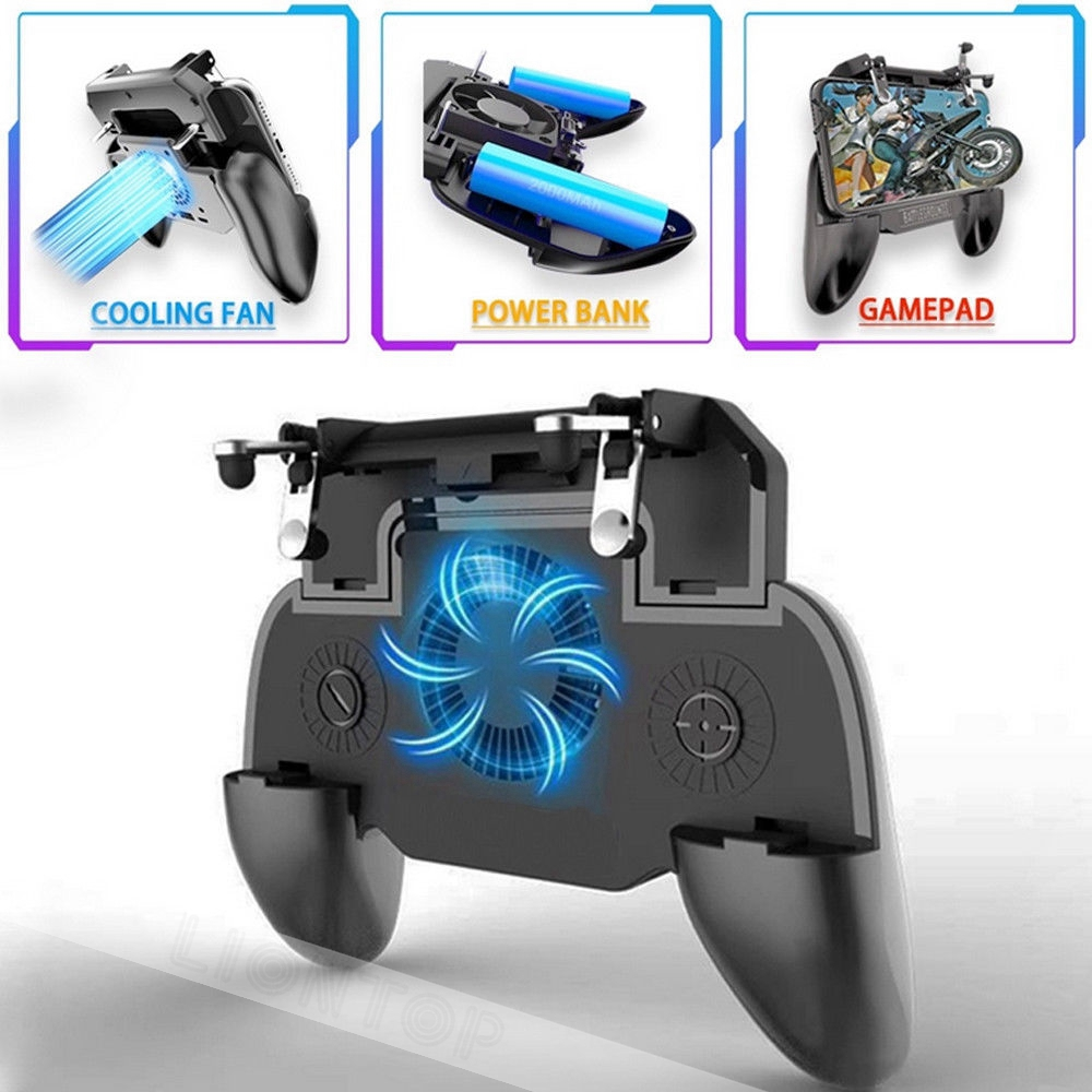 Gamepads Pubg Controller Turnover Button Gamepad Pubg Mobile Controller Six 6 Finger Operating Gamepad L1 R1 Trigger For Ios Android Video Games