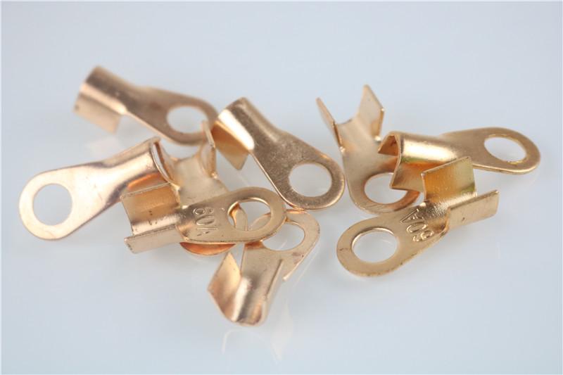 10pcs/lot OT 60A 8mm Dia Copper Circular Splice Terminal
