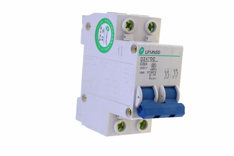 Antiflame DC MCB Electrical swich DC 1P 25A  250V Solar energy Air breaker