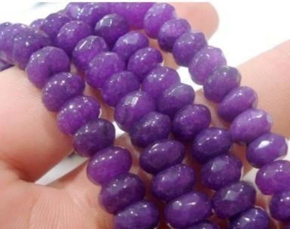 """AAA 15/"""" 2x4mm Purple Amethyst Faceted Rundelle Gems Beads"""