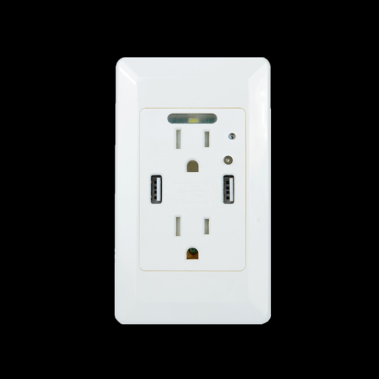 2 USB Ports 4.2A Smart Fast Charging Socket Wall Outlet with LED ...