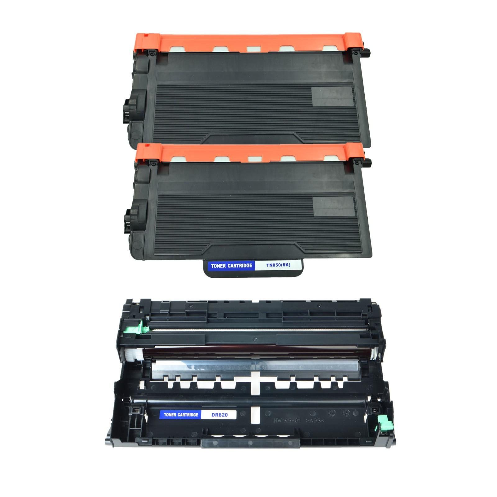 5x TN850 Toner+3x DR820 Drum For Brother DCP-L5650DN MFC-L5800DW L5850DW L6900DW