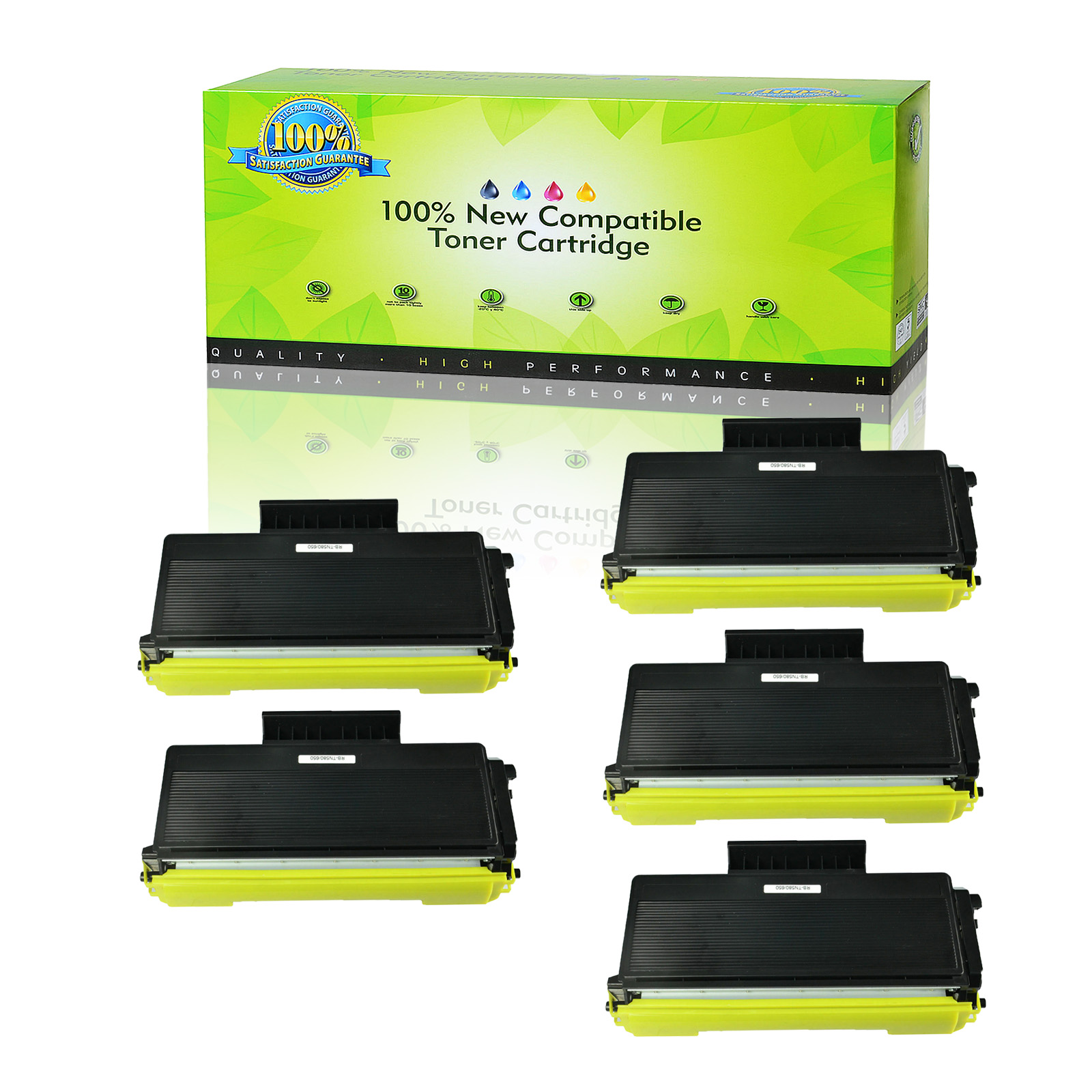 4PK TN650 Toner Cartridge For Brother MFC-8880DN DCP-8070D DCP-8080DN Printer