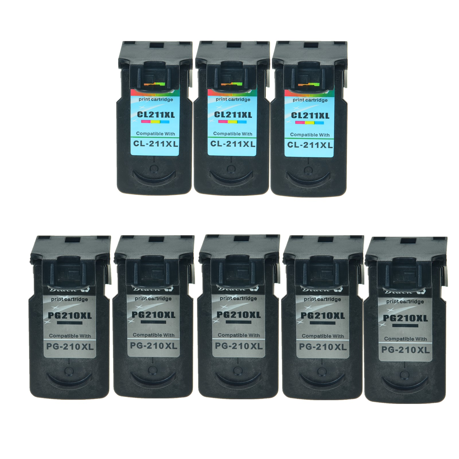5PK PG 210XL 3PK CL 211XL Black Color Ink Set For Canon PIXMA MP240 MP250 MP270