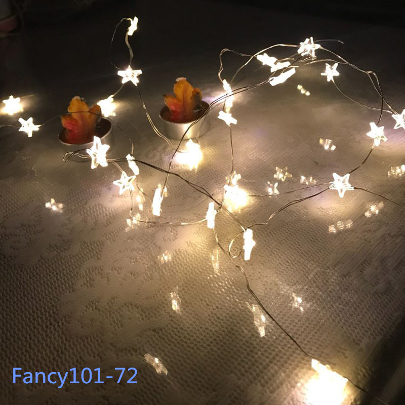 Details about BATTERY Operated STAR Lights 30 LED Fairy String Indoor Party  Home Bedroom Decor