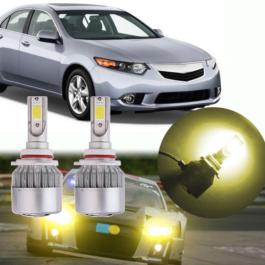 Yellow 9005 LED Headlight Conversion Kit High Beam Bulbs
